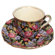 Royal Winton Grimwades Chintz Majestic Demitasse Cup & Saucer