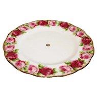 Royal Albert Old English Rose Pedestal Cake Plate