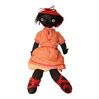 Folk Art Black Americana Rag Doll
