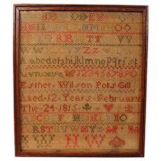 Antique Sampler 1815