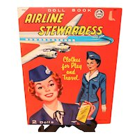 Airline Stewardess Doll Book