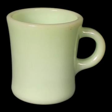 Anchor Hocking Fire King Jadeite Heavy Coffee Mug