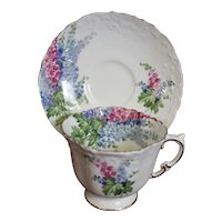 Aynsley Lilacs Cup & Saucer