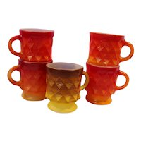 Fire King Anchor Hocking Kimberley Mugs
