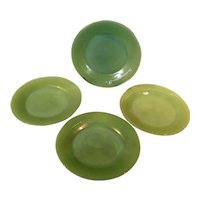 Fire King Jadeite Jane Ray Salad Plates