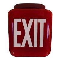 Vintage Ruby Red Wedge Shaped Exit Globe