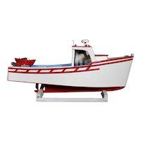 East Coast Folk Art Lobster Fishing Boat