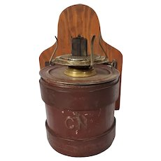 Canadian National Railway Caboose Lantern & Tin Water Cup