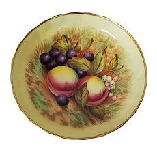 Aynsley Orchard Fruit Pedestal Candy Dish Signed