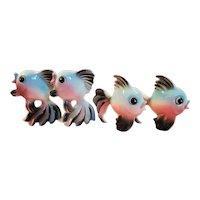 Vintage Lefton Wall Pocket Fish #5066