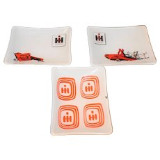 International Harvester Glass Tip Trays