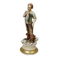 """Antonio Borsato Figurine """"Fisherman's Fancy"""""""