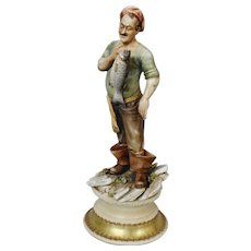 "Antonio Borsato Figurine ""Fisherman's Fancy"""
