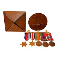 WW2 Medals and WW1 Death Plaque