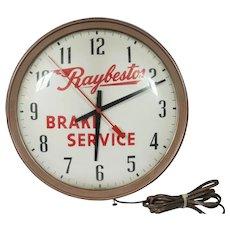 Vintage Raybestos Brake Service Wall Clock