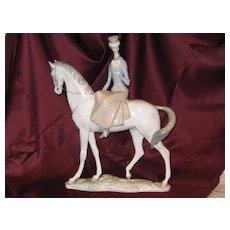 Very Rare Lladro Horsewoman  #1036  AMAZONA