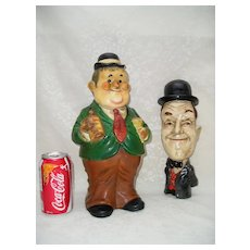Laurel and Hardy Chalkware Figures by: Larry Harmon Pictures Corp.