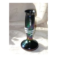 Bohemian Iridescent Art Glass Vase