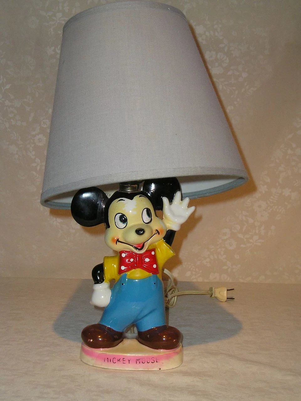 Mickey mouse lamp shade ireland lamp design ideas mickey mouse porcelain lamp ca 1940 s sweet c collectibles aloadofball Gallery
