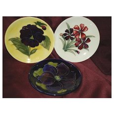 Moorcroft Small Plates Clematis & Spring Flowers