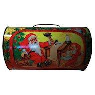 Santa Claus Christmas Candy Tin