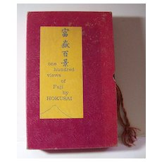 One Hundred Views of Fuji by Hokusai 1960 Hard Cover Book