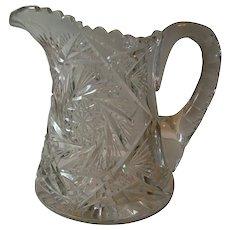 Antique American Brilliant Cut Glass Pitcher
