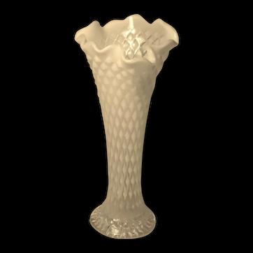 "NORTHWOOD - Vintage ""Stretch Diamond"" Opalescent Glass Vase."