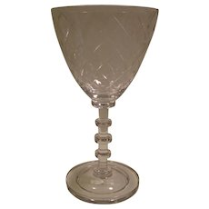 "Vintage Cambridge ""KILLARNEY"" Stemmed Wine Glass"