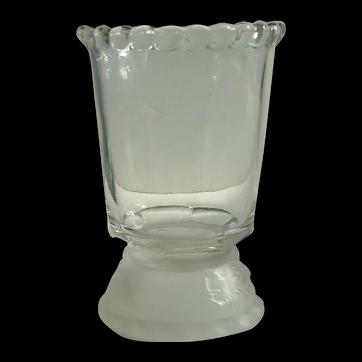 EAPG Lion/Frosted Lion Spooner, Gillinder Glass 1800's