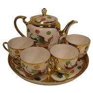 Vintage Asian Tea Set - Porcelain - Hand Painted - Flying Phoenix and Dragon