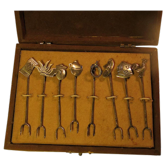 Vintage Sterling Silver Cocktail/Hors d'oeuvre Picks