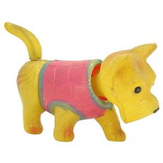 Celluloid Scotty Dog with Twirling Tail Wind-up Toy