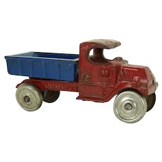Champion Cast Iron Pickup Truck Toy with Nickel Plated Wheels
