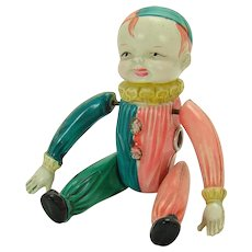Celluloid Tumbling Acrobat Clown Wind-up Toy