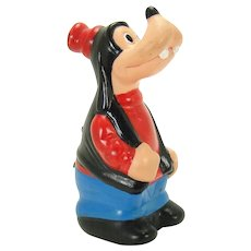 Hard Vinyl Jittering Goofy Wind-up Toy - 1960's