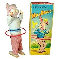 Alps Hula Bunny Wind-up Toy - MIB - 1960's