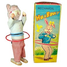 Alps Hula Bunny Wind-up Toy - MIB - 1960's