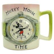 Walt Disney Productions Mickey Mouse Ceramic Mug - 1940's