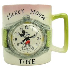 Walt Disney Productions Mickey Mouse Ceramic Mug - 1940's