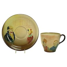 Royal Doulton Cup and Saucer - Hand-painted Raised Details