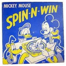 Mickey Mouse Spin 'n' Win Tin Lithographed Game