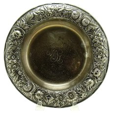 Signed S. Kirk Heavy Sterling Repousse Bowl