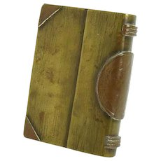 Trench Art Military Brass & Copper Book Lighter (Folk Art)