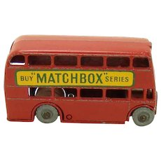 Lesney of England Matchbox London Double Decker Bus Toy - 1950's