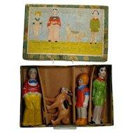 Little Orphan Annie Bisque Figurine Set - Mint in Box