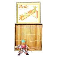 German Rollo The Lifelike Tumbler Toy with Wicker Platform - Mint in Box