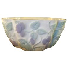 Consolidated Glass Vase in Grape and Leaf Pattern