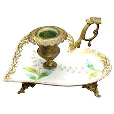 Porcelain Candle Holder with Bronze Gilt Mounts - 1880's