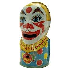 Chein Tin Clown Mechanical Bank